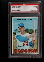 1967 Topps #525 Ron Hunt PSA 7 NM LOS ANGELES DODGERS