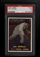 1957 Topps #132  Art Ditmar  PSA 5 EX   NEW YORK YANKEES