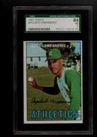 1967 Topps #515 Bert Campaneris SGC 84 NM 7 KANSAS CITY ATHLETICS