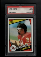 1984 Topps #090 Gary Green PSA 9 MINT     KANSAS CITY CHIEFS