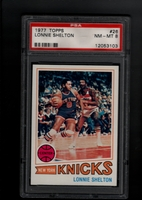 1977 Topps #026 Lonnie Shelton PSA 8 NM-MT NEW YORK KNICKS